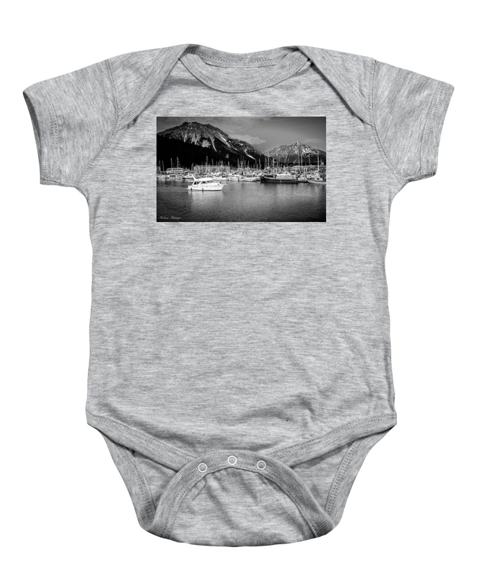 Alaska Baby Onesie featuring the photograph Day On The Water by Andrew Matwijec