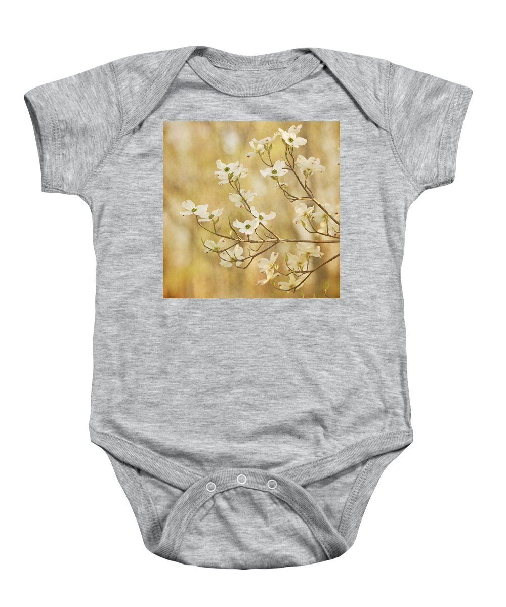 White Flower Baby Onesie featuring the photograph Days Of Dogwoods by Kim Hojnacki