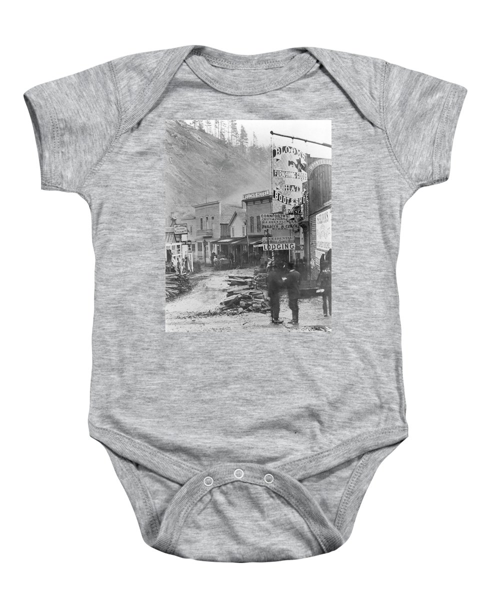 1877 Baby Onesie featuring the photograph Deadwood, South Dakota by Granger