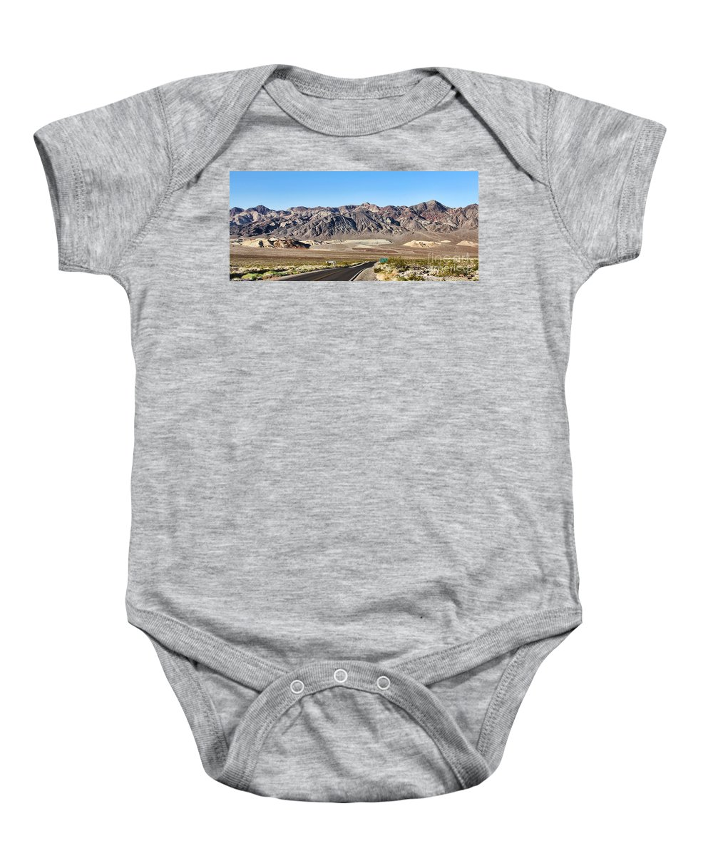Death Valley National Park Baby Onesie featuring the photograph Death Valley Highway by Jack Schultz