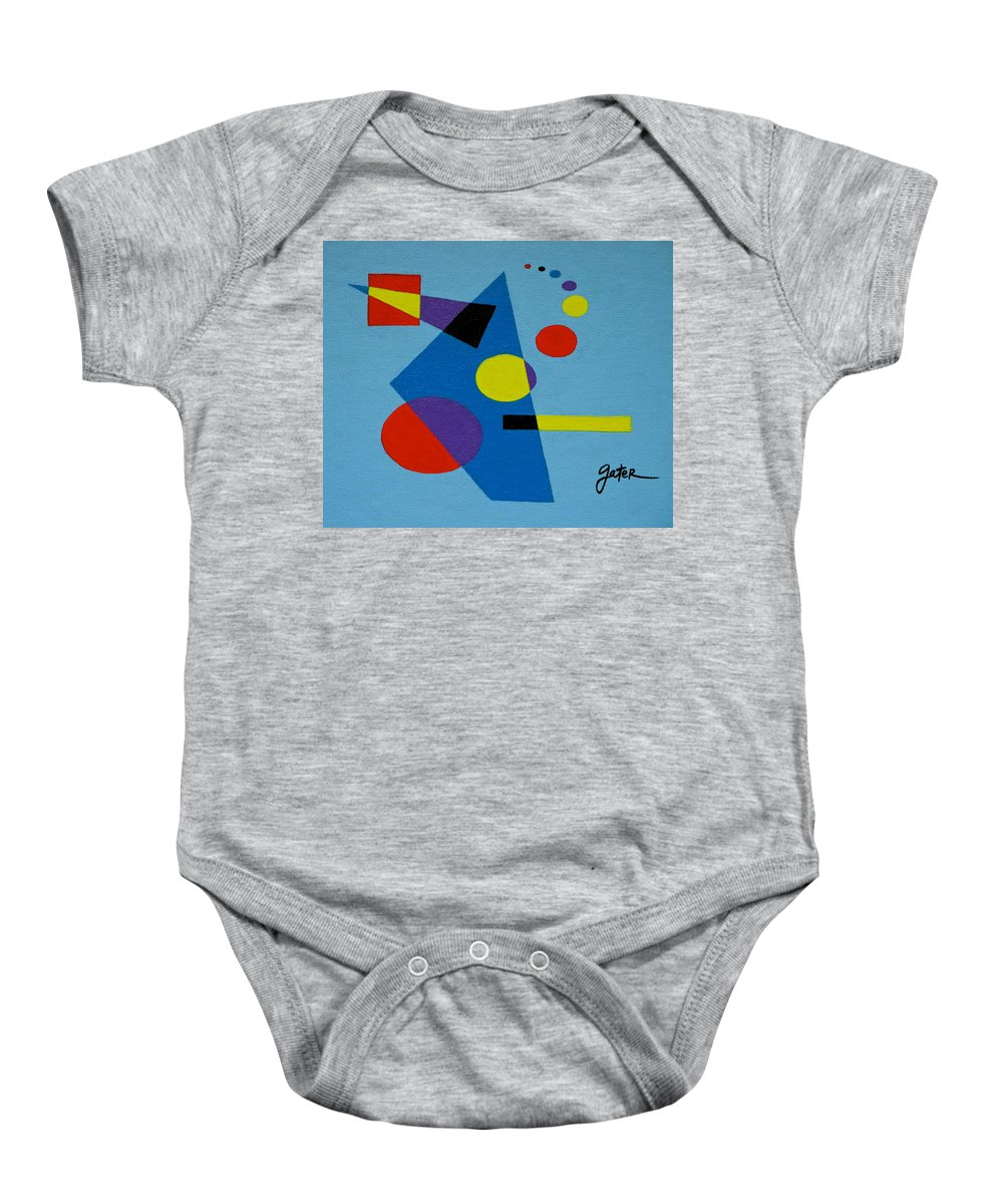 Decisions Baby Onesie featuring the painting Decisions by Jeff Gater