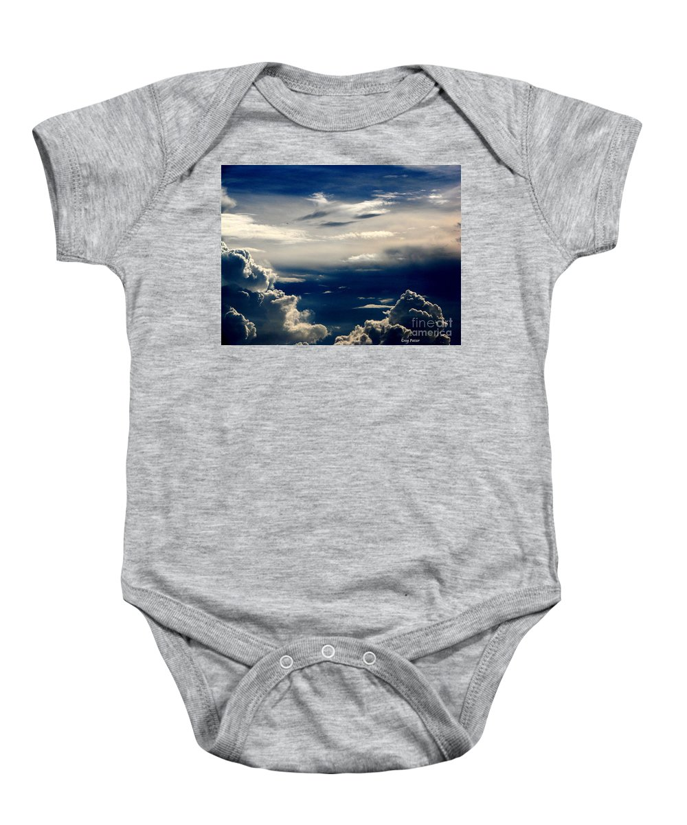 Art For The Wall...patzer Photography Baby Onesie featuring the photograph Deep Blue by Greg Patzer
