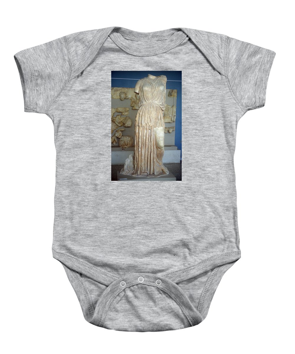 Demeter Statue Baby Onesie featuring the photograph Demeter by Andonis Katanos
