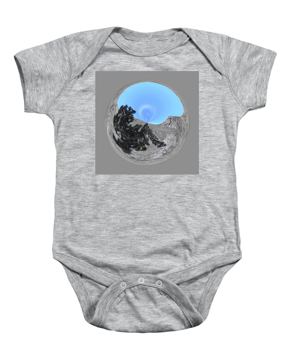 Orb Baby Onesie featuring the photograph Desert Orb 2 by Brent Dolliver