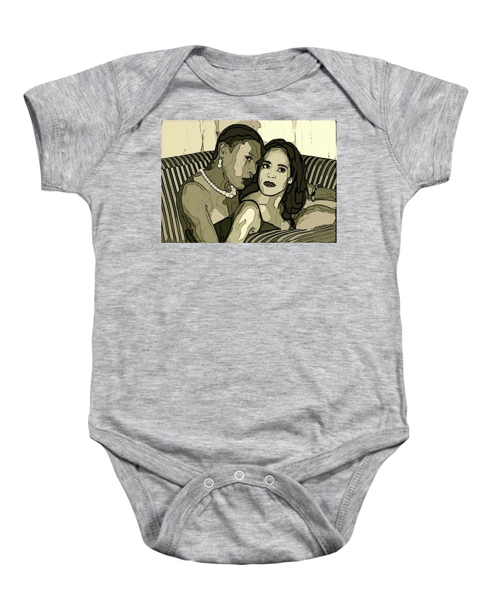 Lesbians Sexy Women Baby Onesie featuring the photograph Deux by Alice Gipson