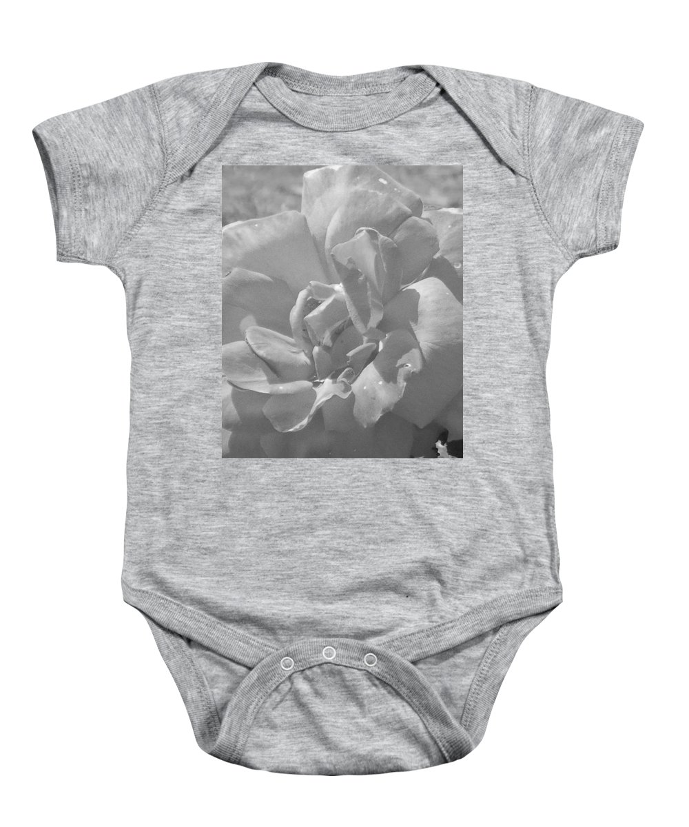 Rose Baby Onesie featuring the photograph Dew Rose by Pharris Art