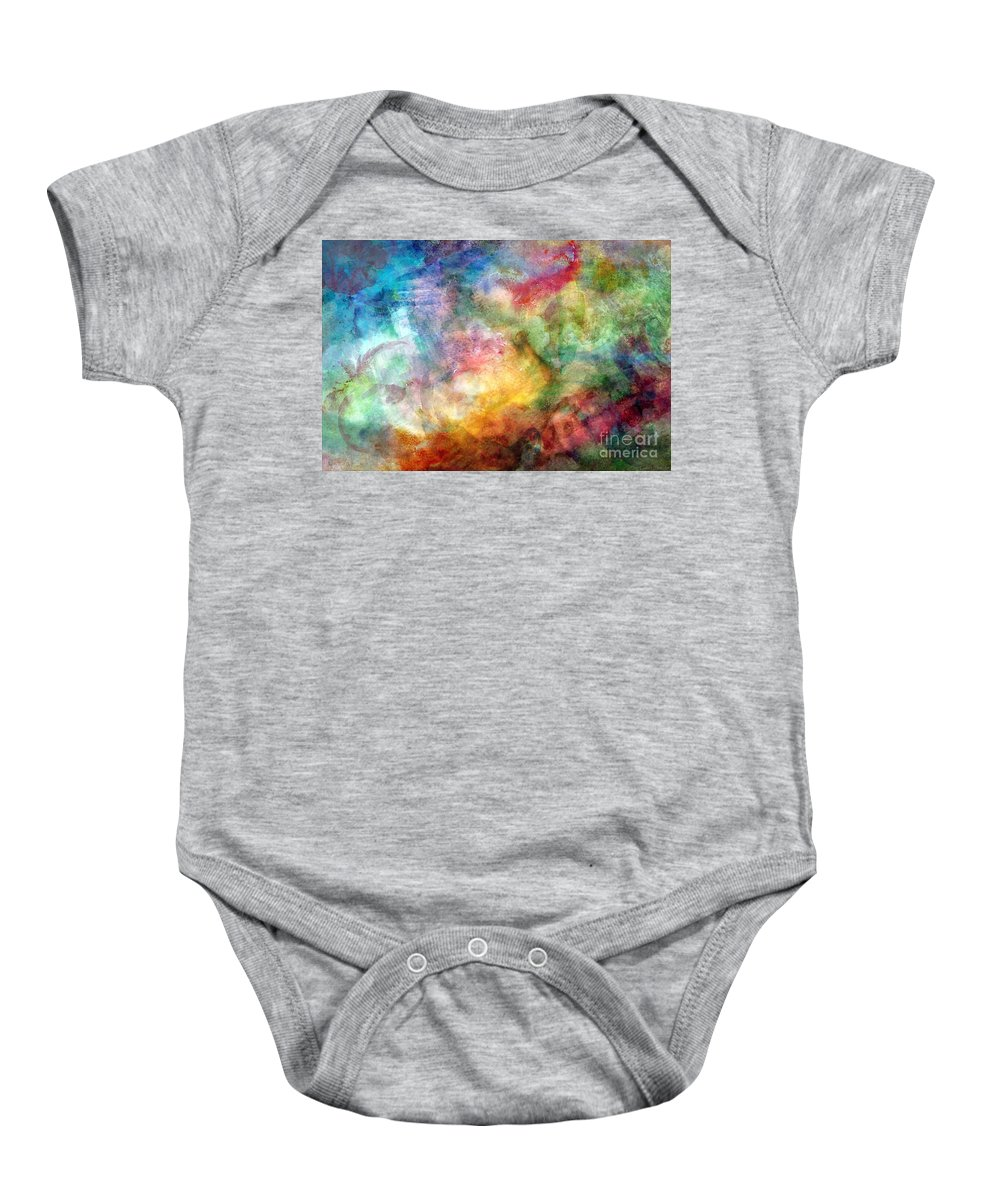 Abstract Baby Onesie featuring the photograph Digital Watercolor Abstract by Debbie Portwood