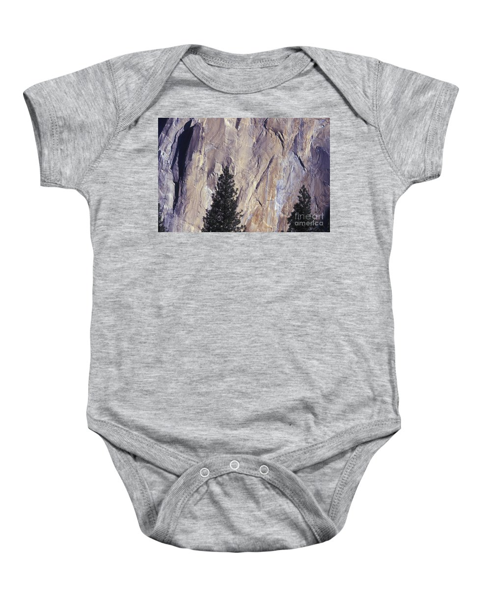 El Capitan Baby Onesie featuring the photograph Disappearing Into The Wall - 2 by Paul W Faust - Impressions of Light