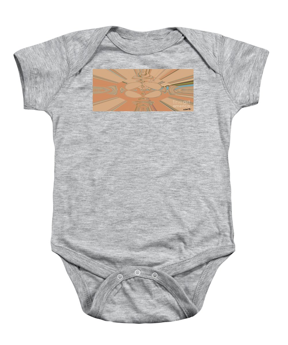 Abstract Baby Onesie featuring the painting Disegni by Loredana Messina