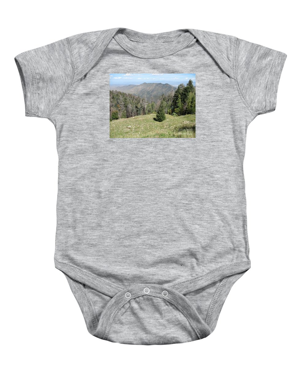 Mountain Baby Onesie featuring the photograph Distant View - Mount Lemmon by Christiane Schulze Art And Photography