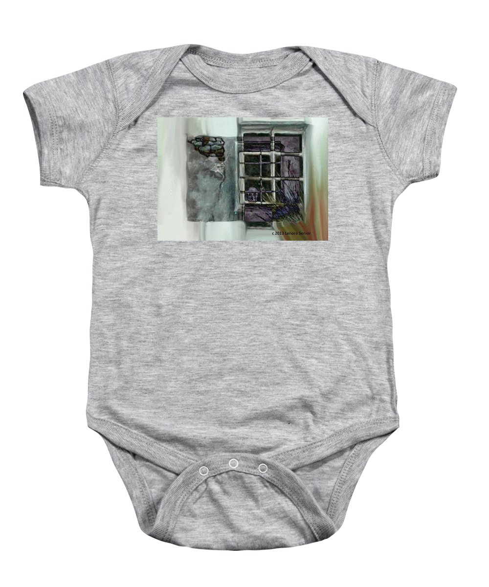 Expressive Baby Onesie featuring the digital art Does Anybody Care by Lenore Senior
