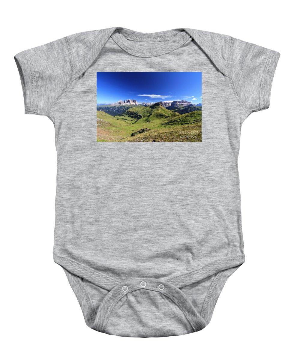 Alpine Baby Onesie featuring the photograph Dolomiti - High Fassa Valley by Antonio Scarpi