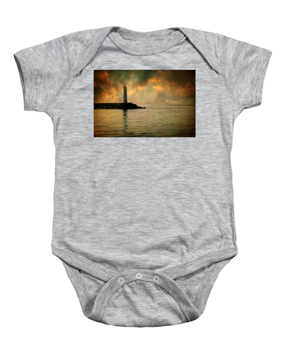 Lighthouse Baby Onesie featuring the photograph Don't Leave Me Now by Zapista Zapista