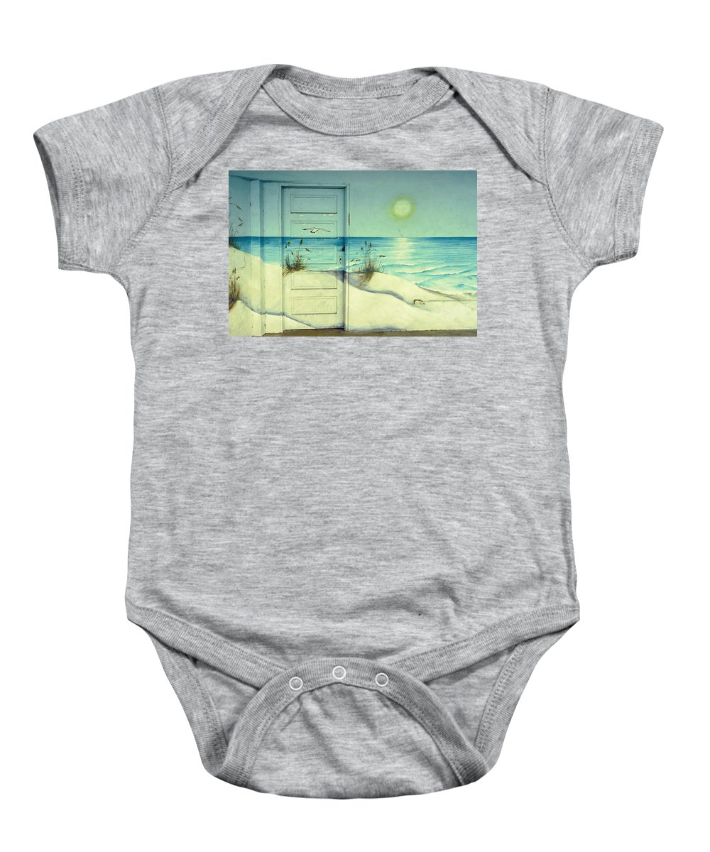 Architecture Baby Onesie featuring the photograph Door Of Perception by Skip Hunt