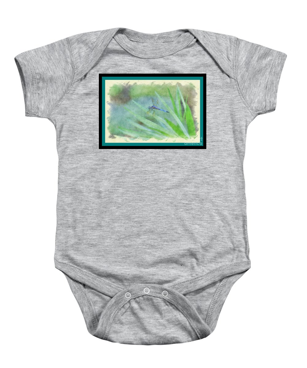 Dragon Fly Baby Onesie featuring the photograph Dragon Fly by Donna Bentley