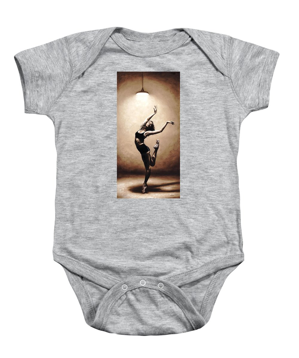Dancer Baby Onesie featuring the painting Dramatic Eclecticism by Richard Young