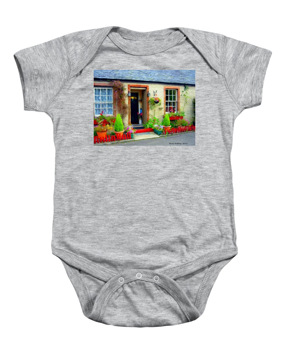 House Baby Onesie featuring the painting Dream House by Bruce Nutting