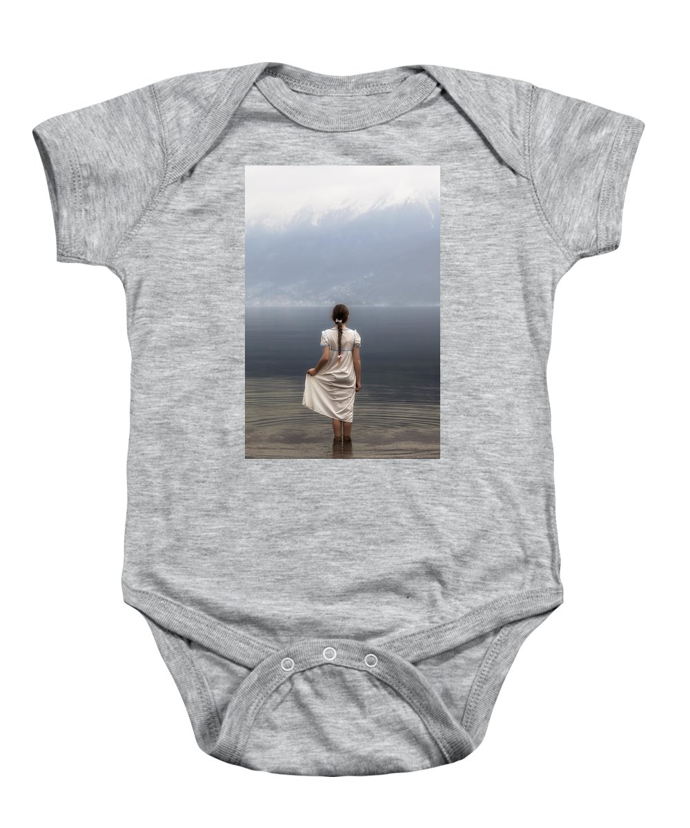Girl Baby Onesie featuring the photograph Dreaming In Water by Joana Kruse