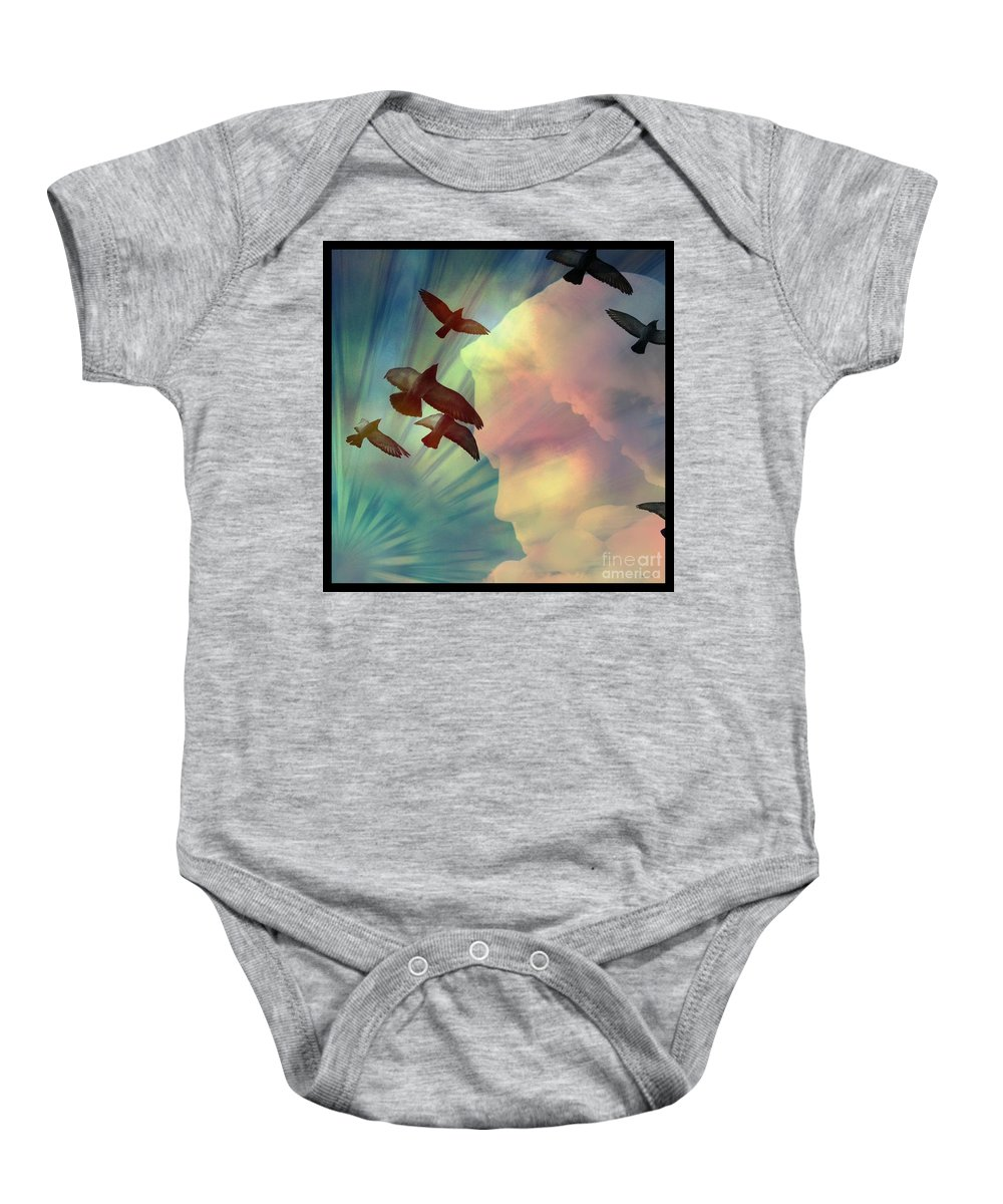 Of Lucid Dreams / Dreamscape 6 Baby Onesie featuring the digital art Of Lucid Dreams / Dreamscape 6 by Elizabeth McTaggart
