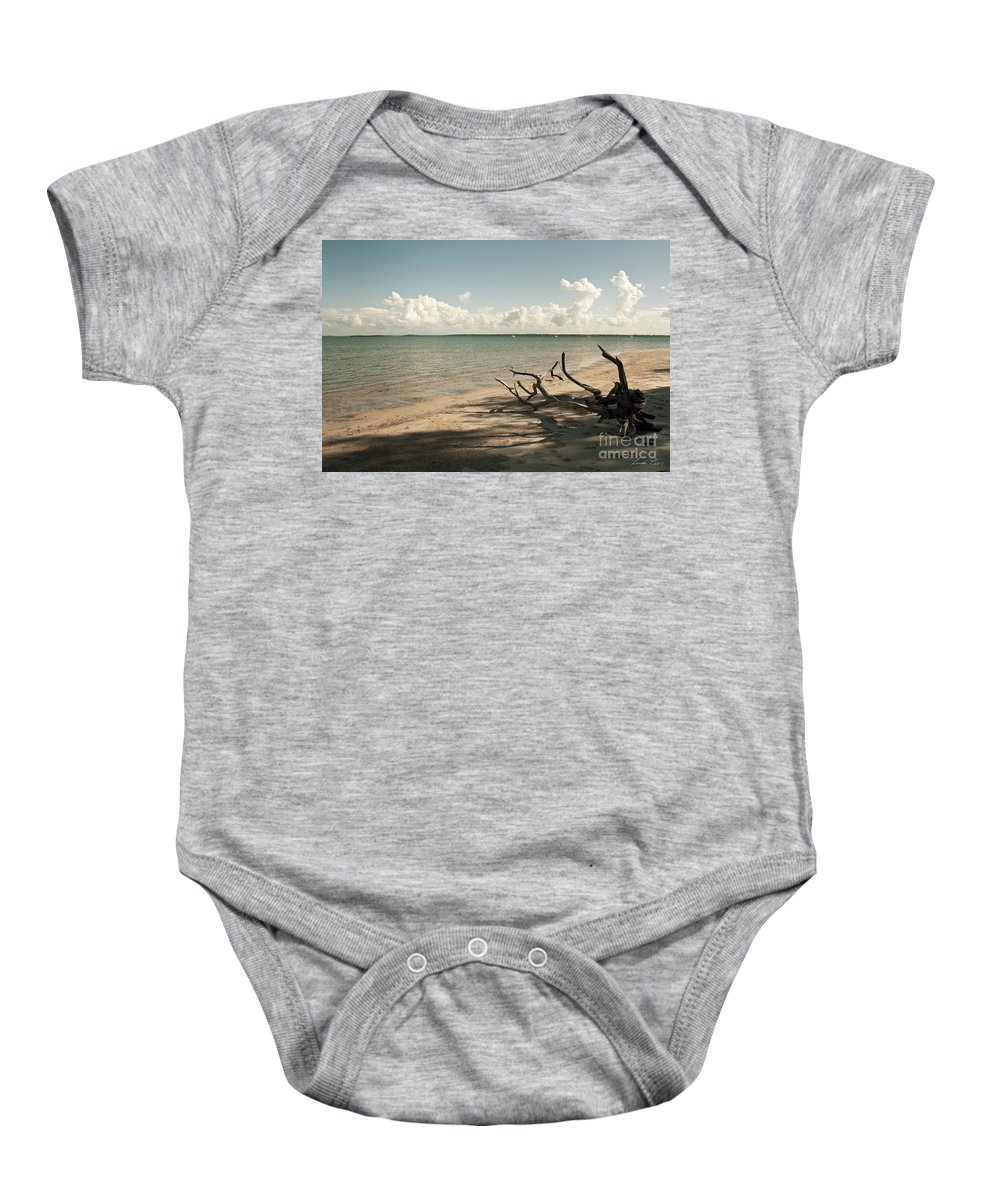 Beach Baby Onesie featuring the photograph Drift Away by Linda Lees