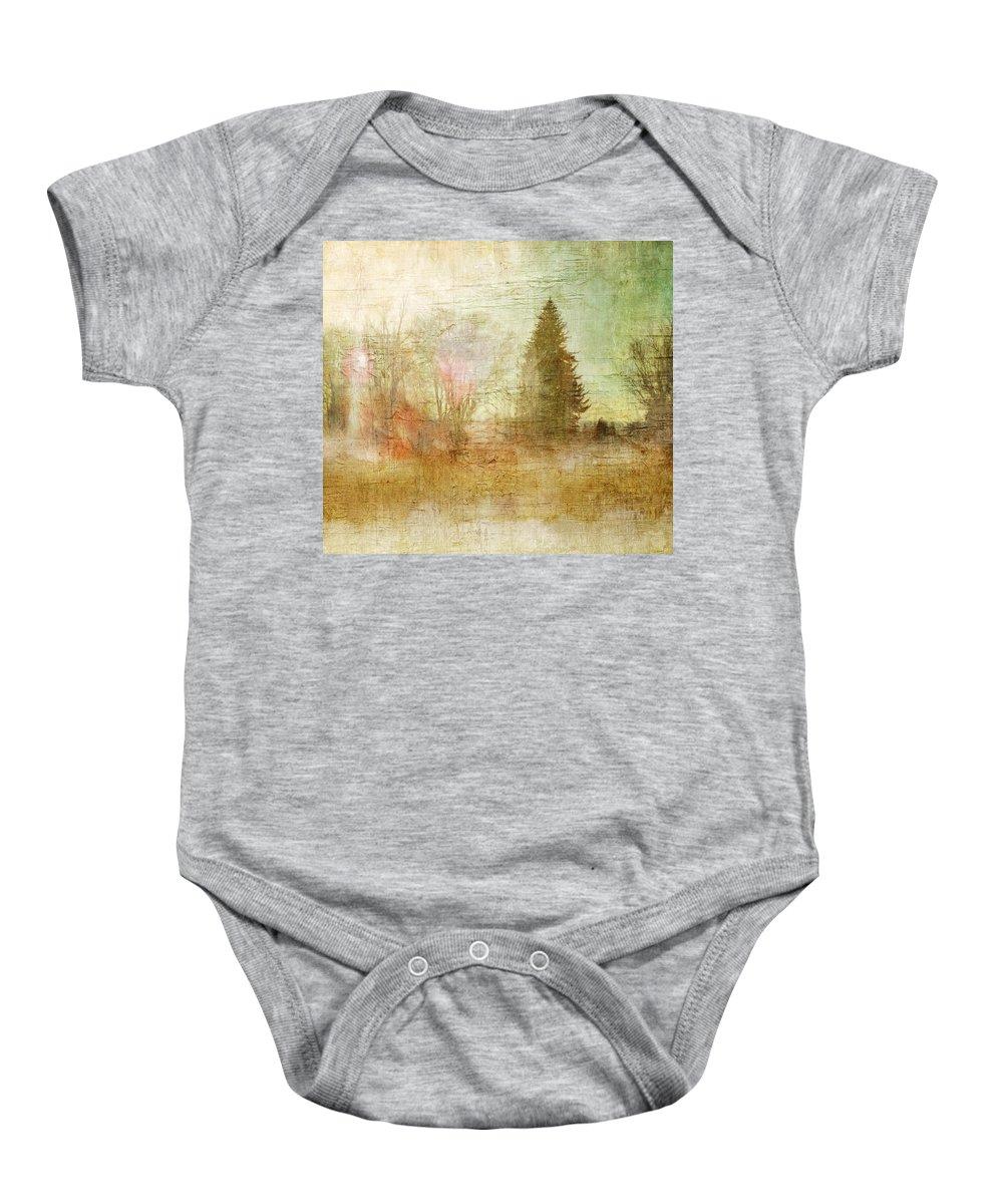 Brett Baby Onesie featuring the digital art Home Skyline by Brett Pfister