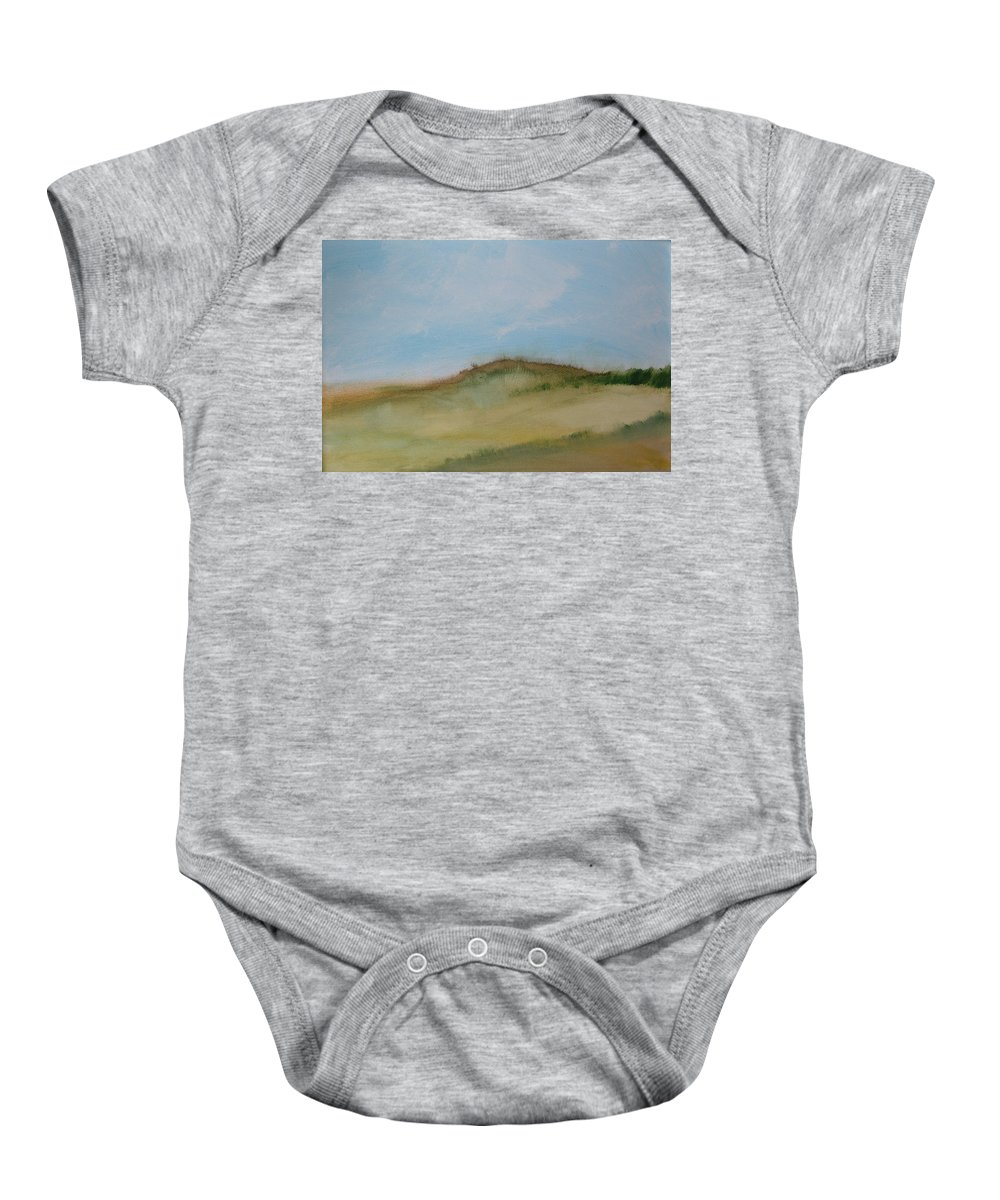 Beach Baby Onesie featuring the painting Dunes by Rhodes Rumsey