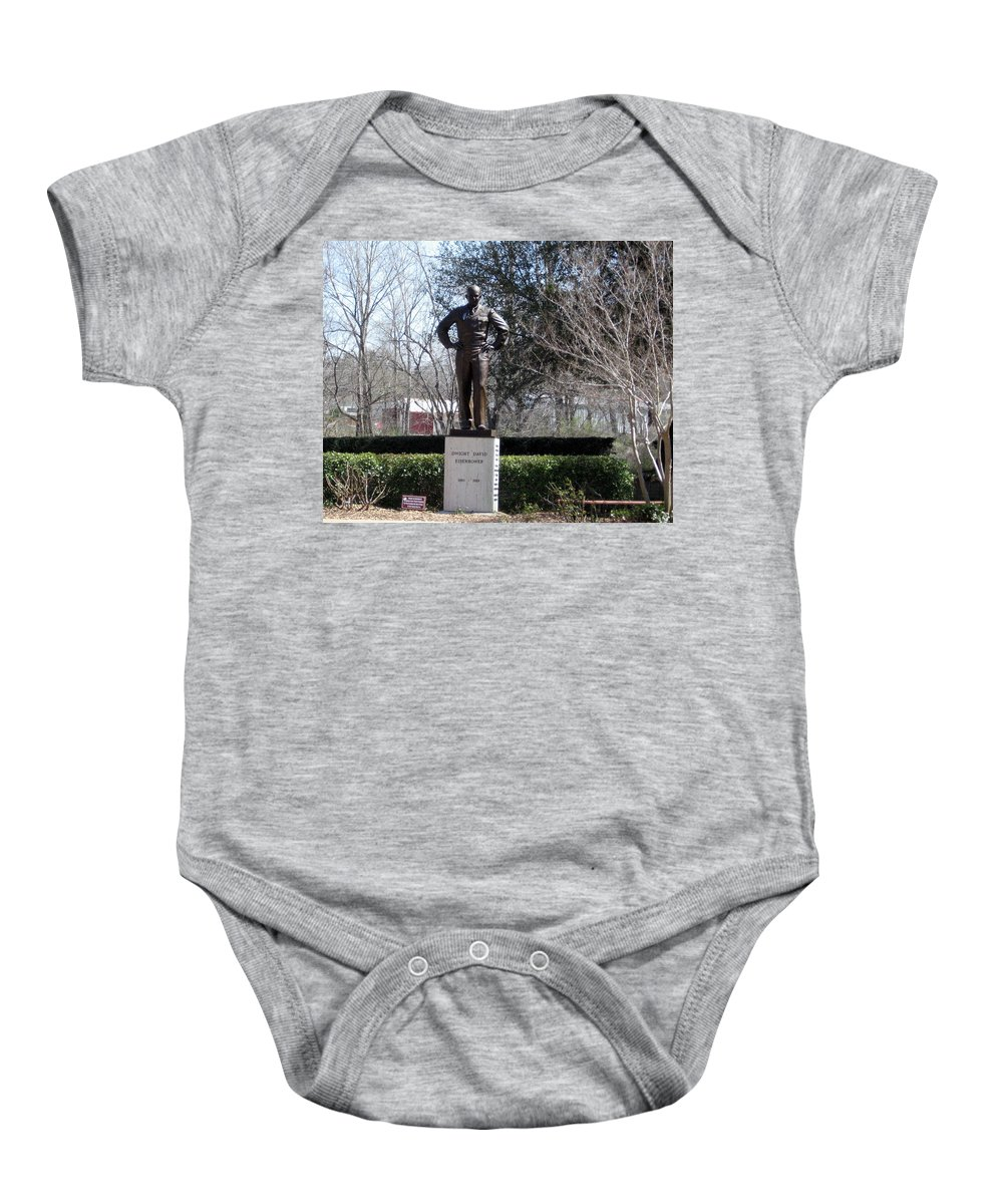 Baby Onesie featuring the photograph Dwight D Eisenhower by Amy Hosp