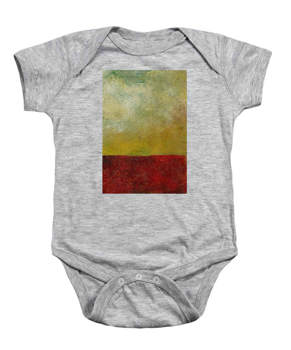 Abstract Landscape Baby Onesie featuring the painting Earth Study One by Michelle Calkins