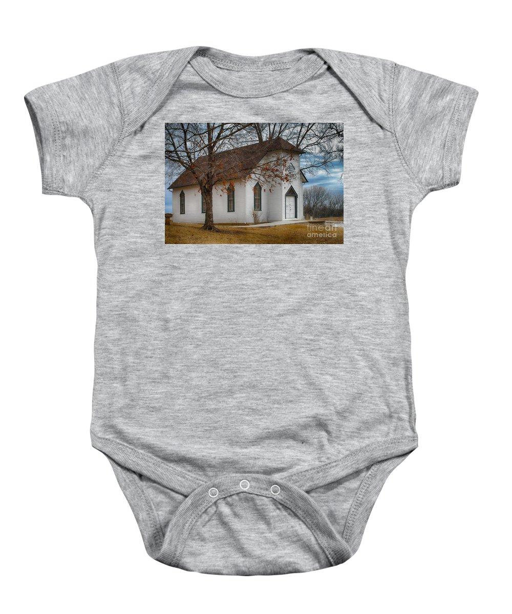 Edmonds Chapel 1891 Baby Onesie featuring the photograph Edmonds Chapel 1891 by Liane Wright
