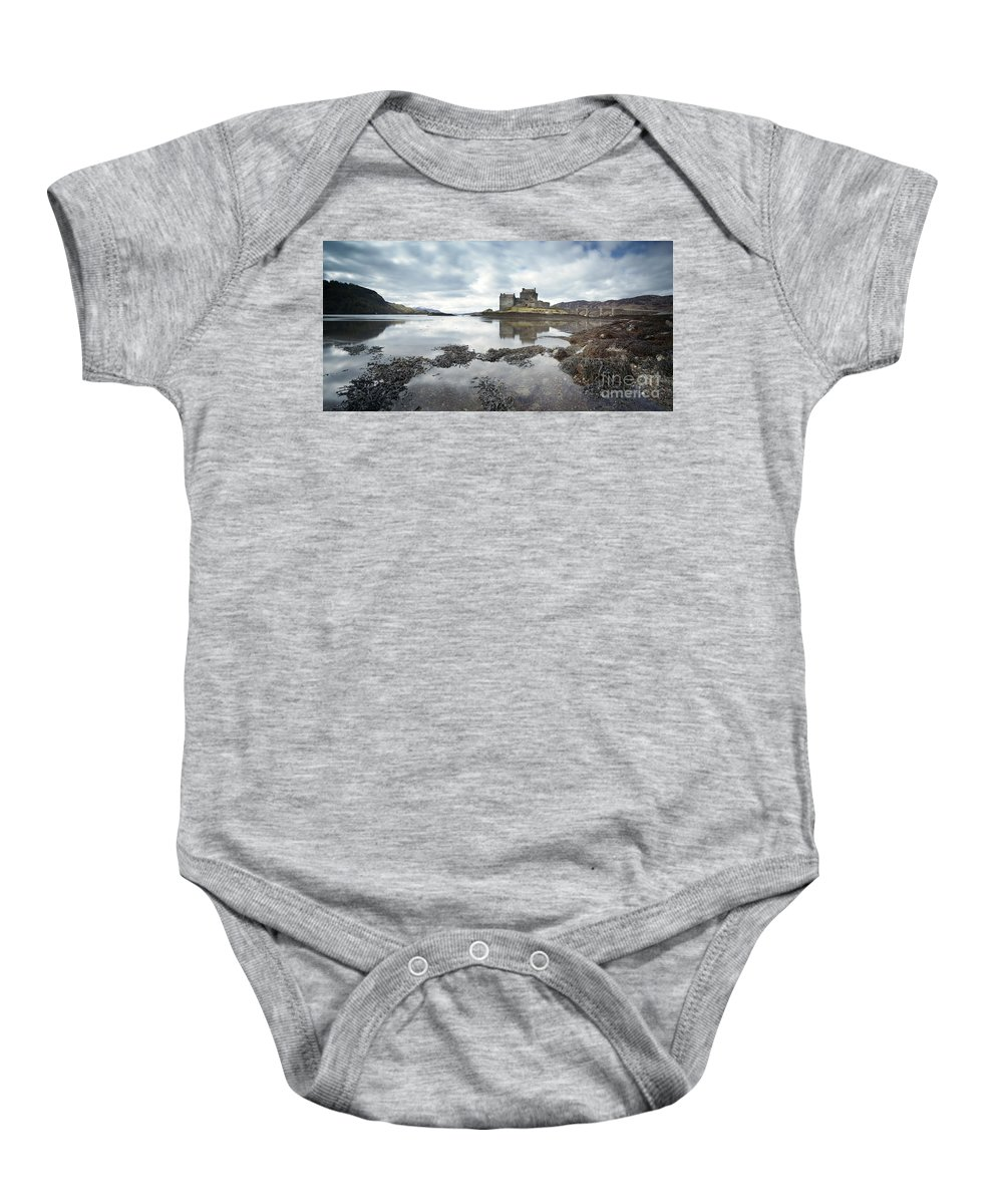 Bridge Baby Onesie featuring the photograph Eilean Donan Castle Scottish Highlands Uk by Matteo Colombo