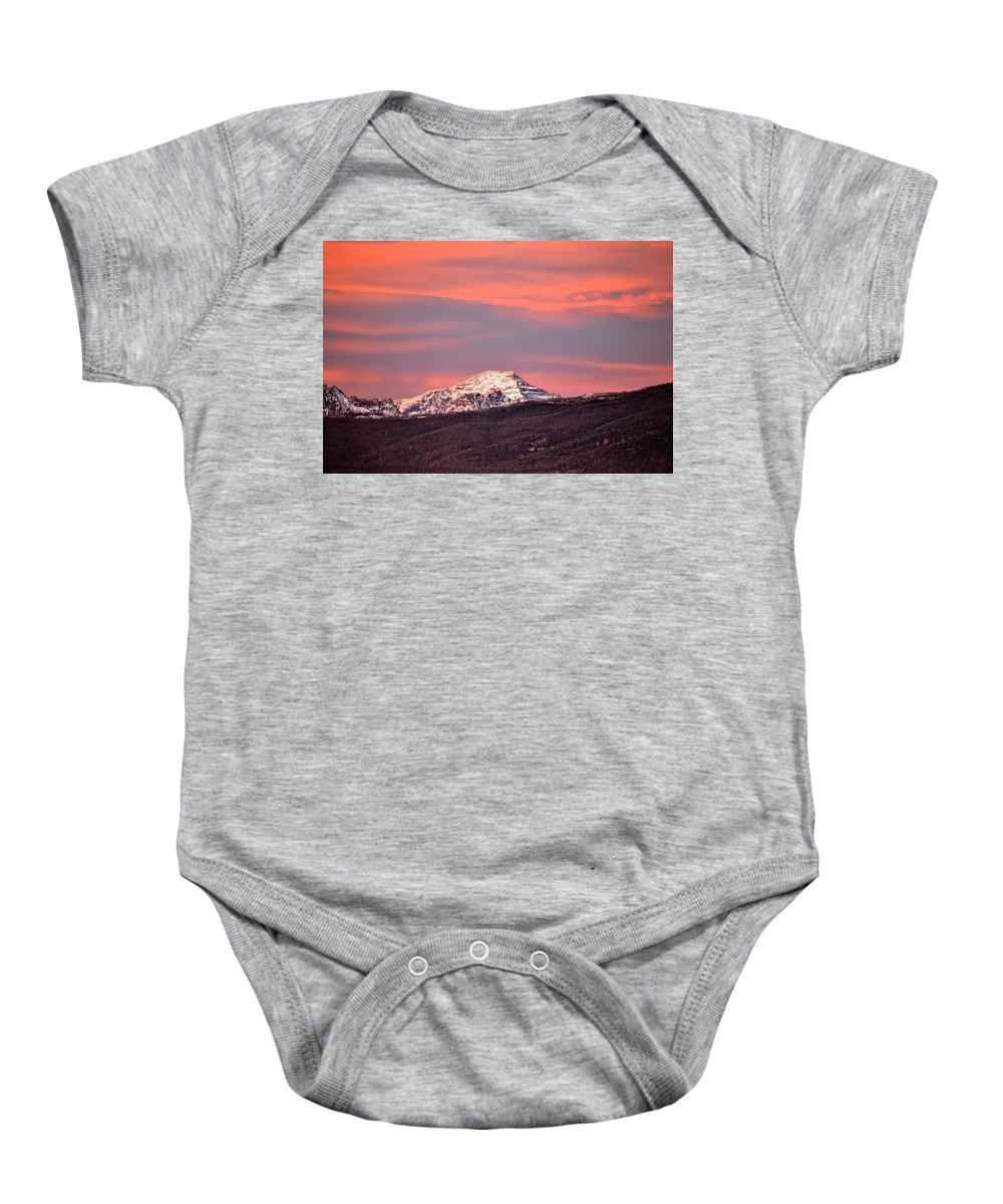 Montana Fine Art Print Baby Onesie featuring the photograph El Capitan by Joseph J Stevens
