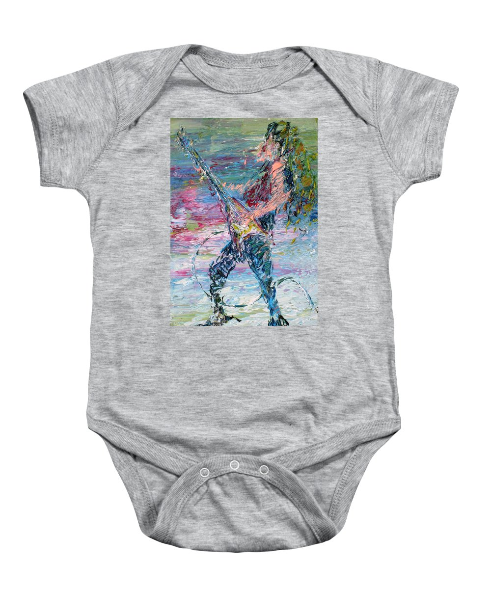 Electric Baby Onesie featuring the painting Electric Guitarism by Fabrizio Cassetta