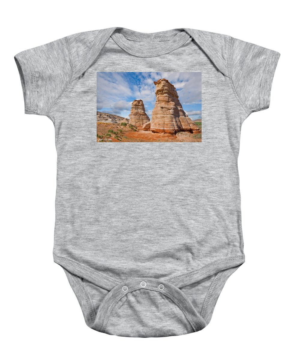 Arid Climate Baby Onesie featuring the photograph Elephant's Feet Rock Formation by Jeff Goulden