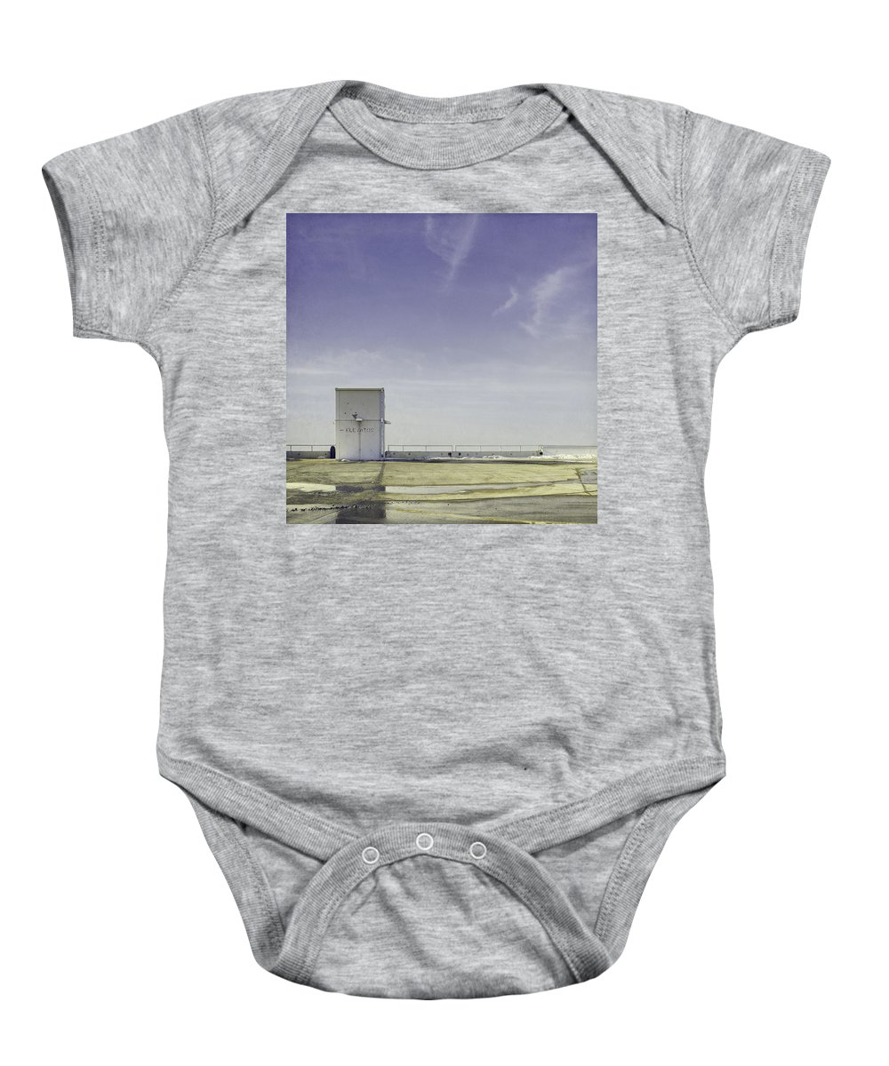 Roof Top Baby Onesie featuring the photograph Elevator by Scott Norris