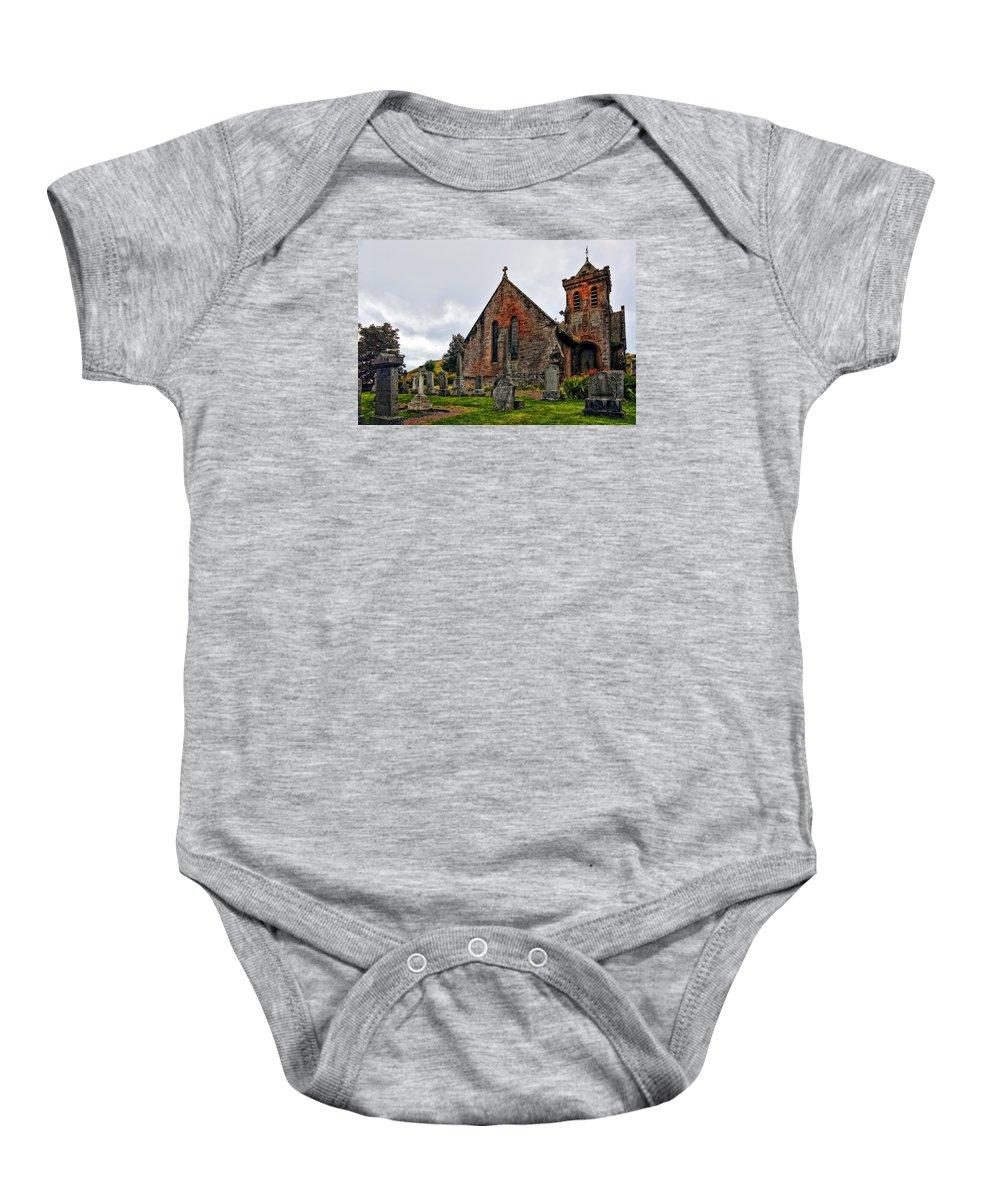 Landscape Baby Onesie featuring the photograph Elvanfoot Parish Church by Marcia Colelli
