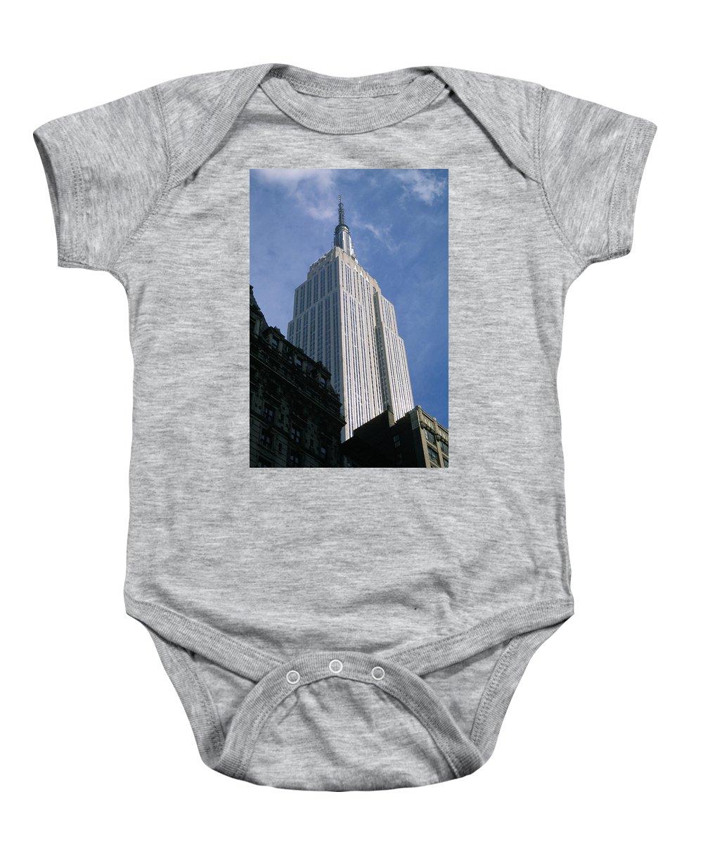 Empire State Building Canvas Prints Baby Onesie featuring the photograph Empire State Building by Jon Neidert