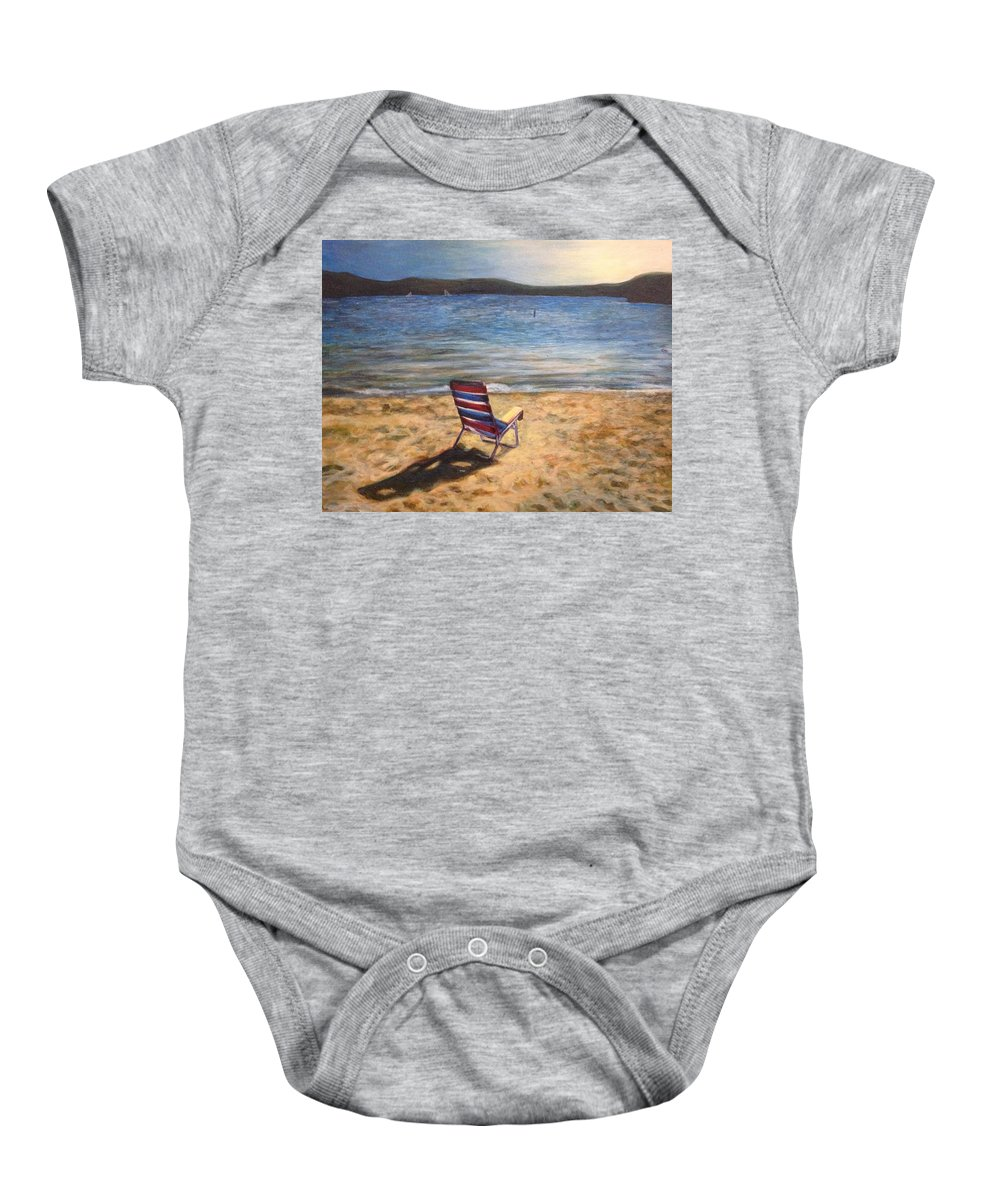 Painting Baby Onesie featuring the painting End Of Summer by Katherine Boiczyk