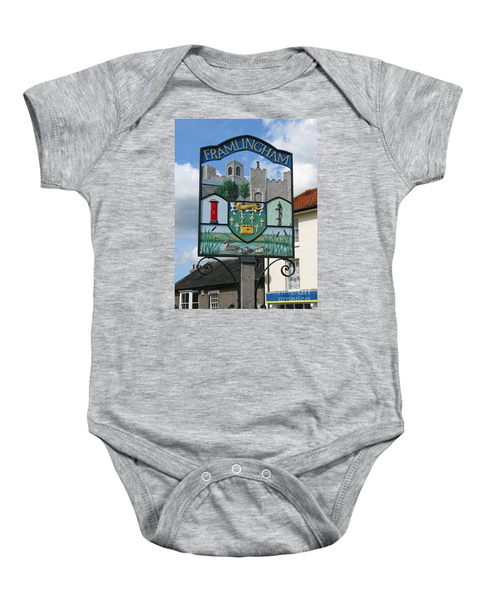 England Baby Onesie featuring the photograph English Market Town by Ann Horn