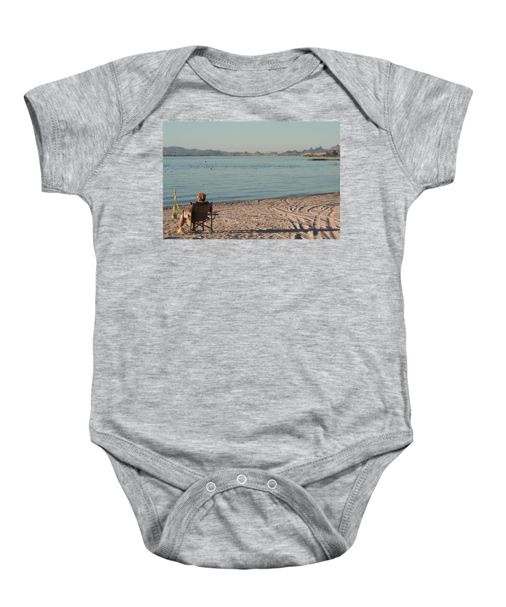 Beach Baby Onesie featuring the photograph Enjoy by David S Reynolds
