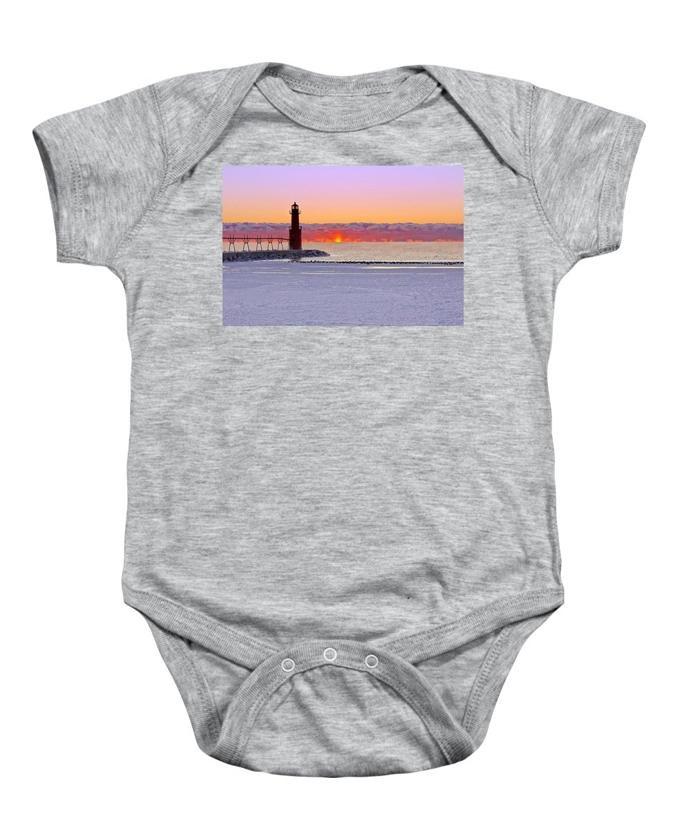 Lighthouse Baby Onesie featuring the photograph Enlightening by Bill Pevlor