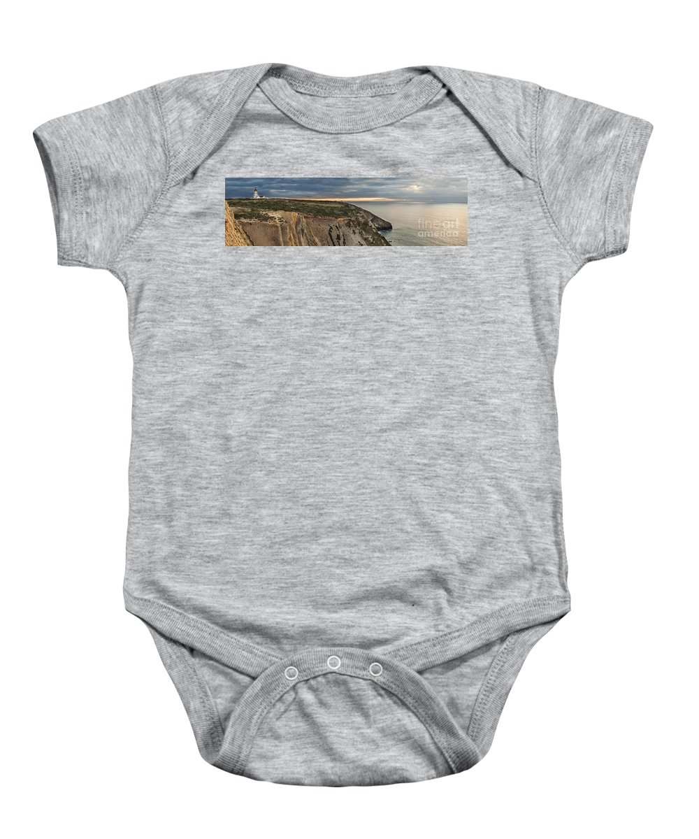 Lighthouse Baby Onesie featuring the photograph Espichel Cape Lighthouse by Jose Elias - Sofia Pereira