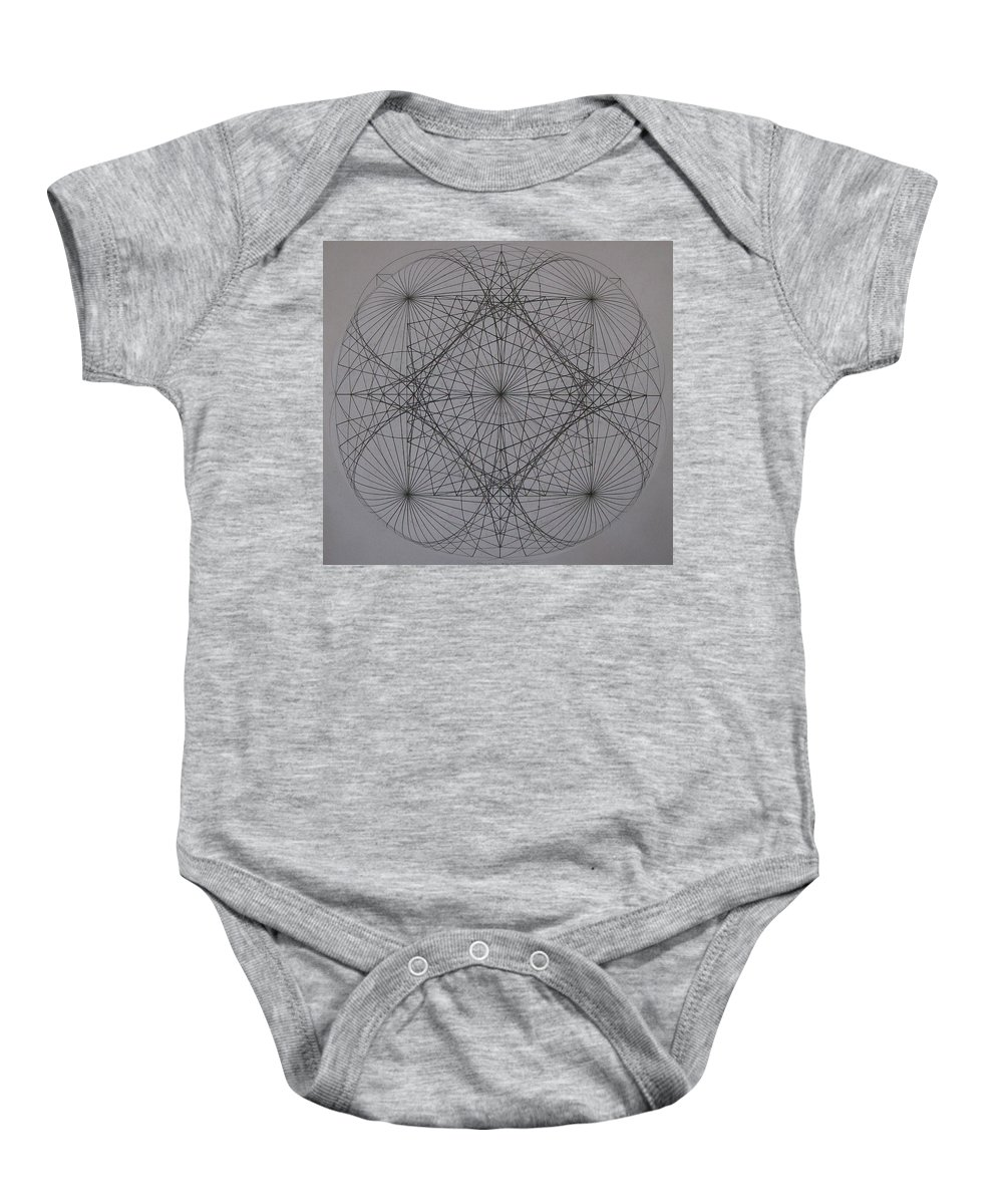 Event Horizon Baby Onesie featuring the digital art Event Horizon by Jason Padgett
