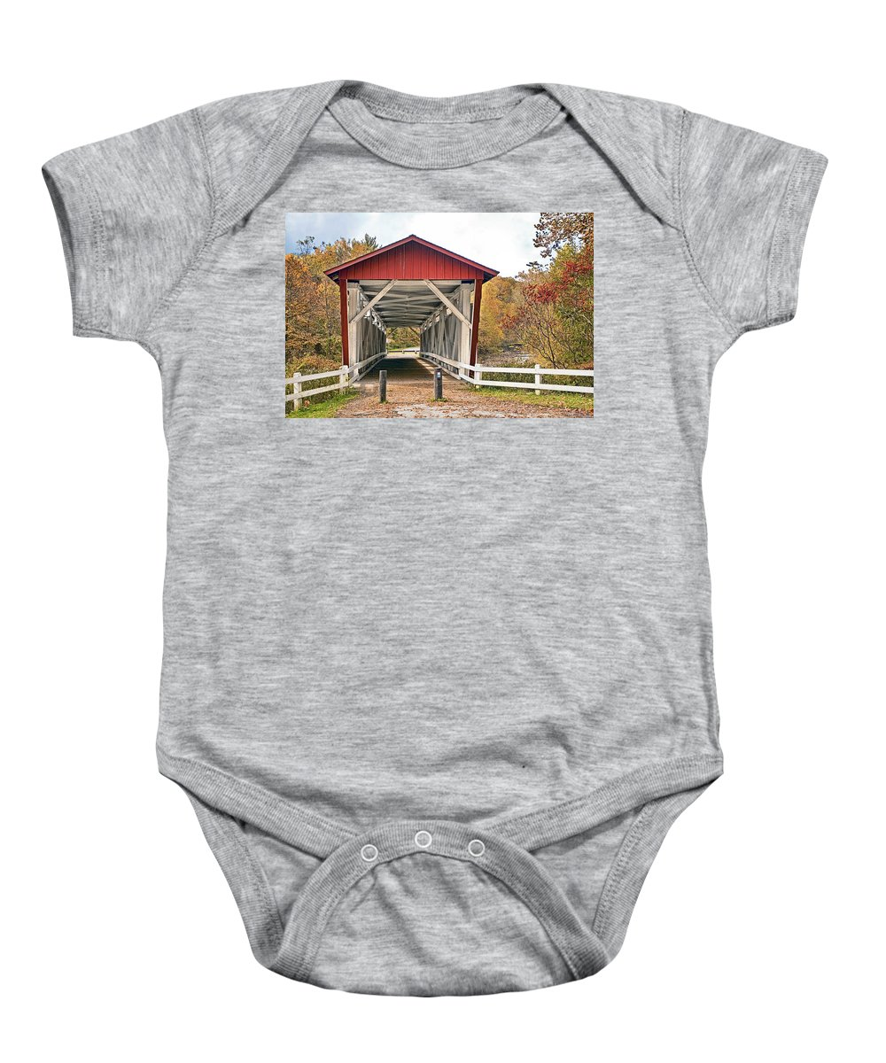 Landscapes Baby Onesie featuring the photograph Everett Road Bridge by Marcia Colelli
