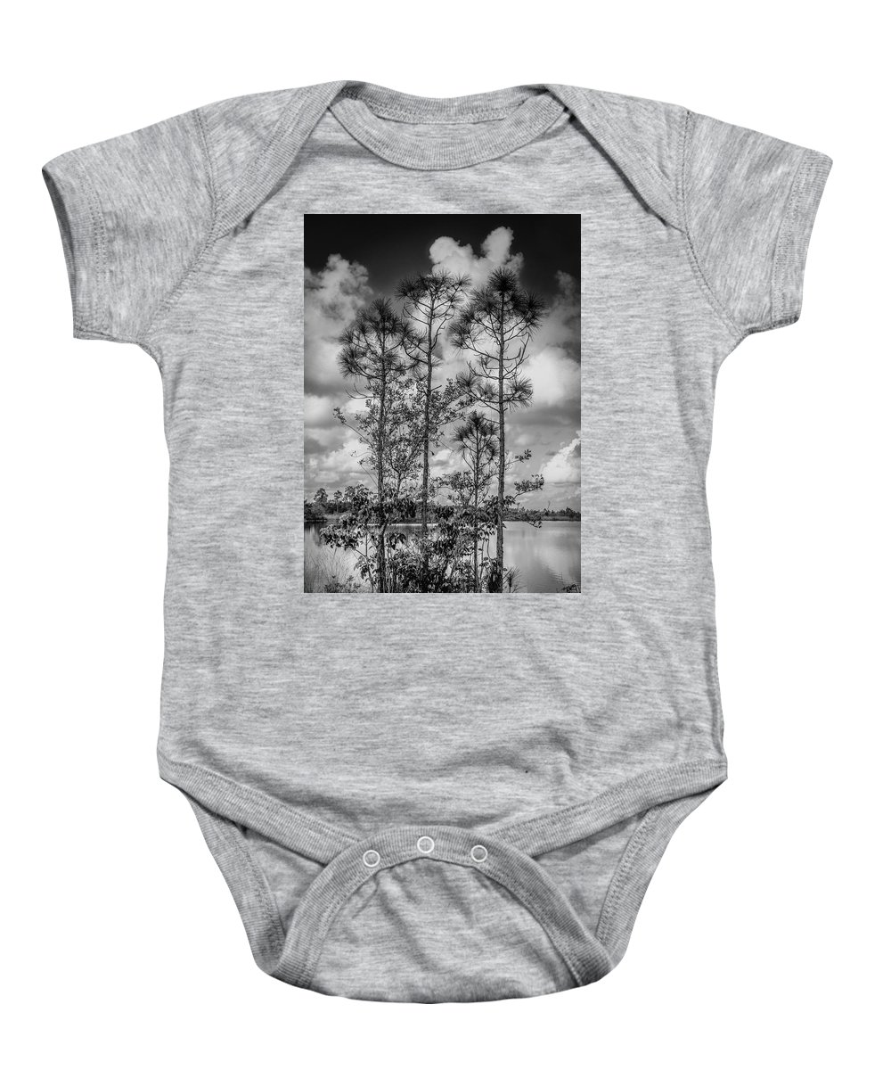 Everglades Baby Onesie featuring the photograph Everglades 0336bw by Rudy Umans