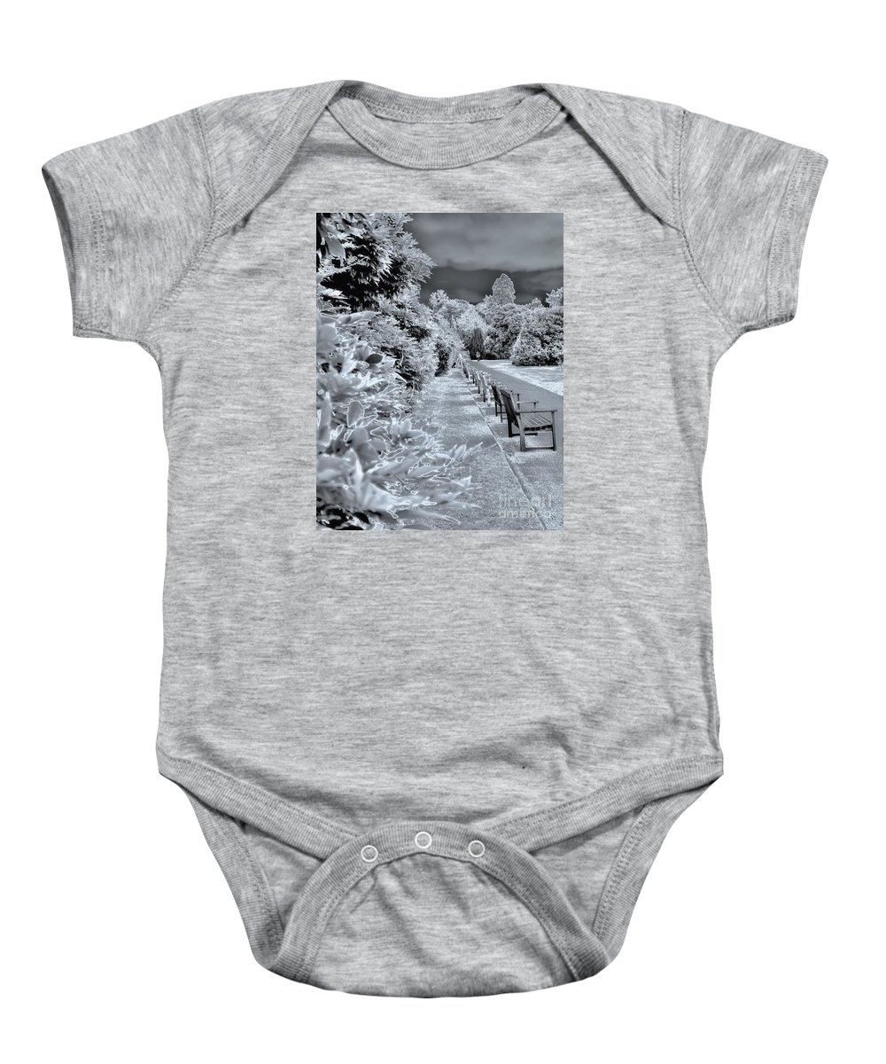 Infa Red Baby Onesie featuring the photograph Everyones Park by Lance Sheridan-Peel
