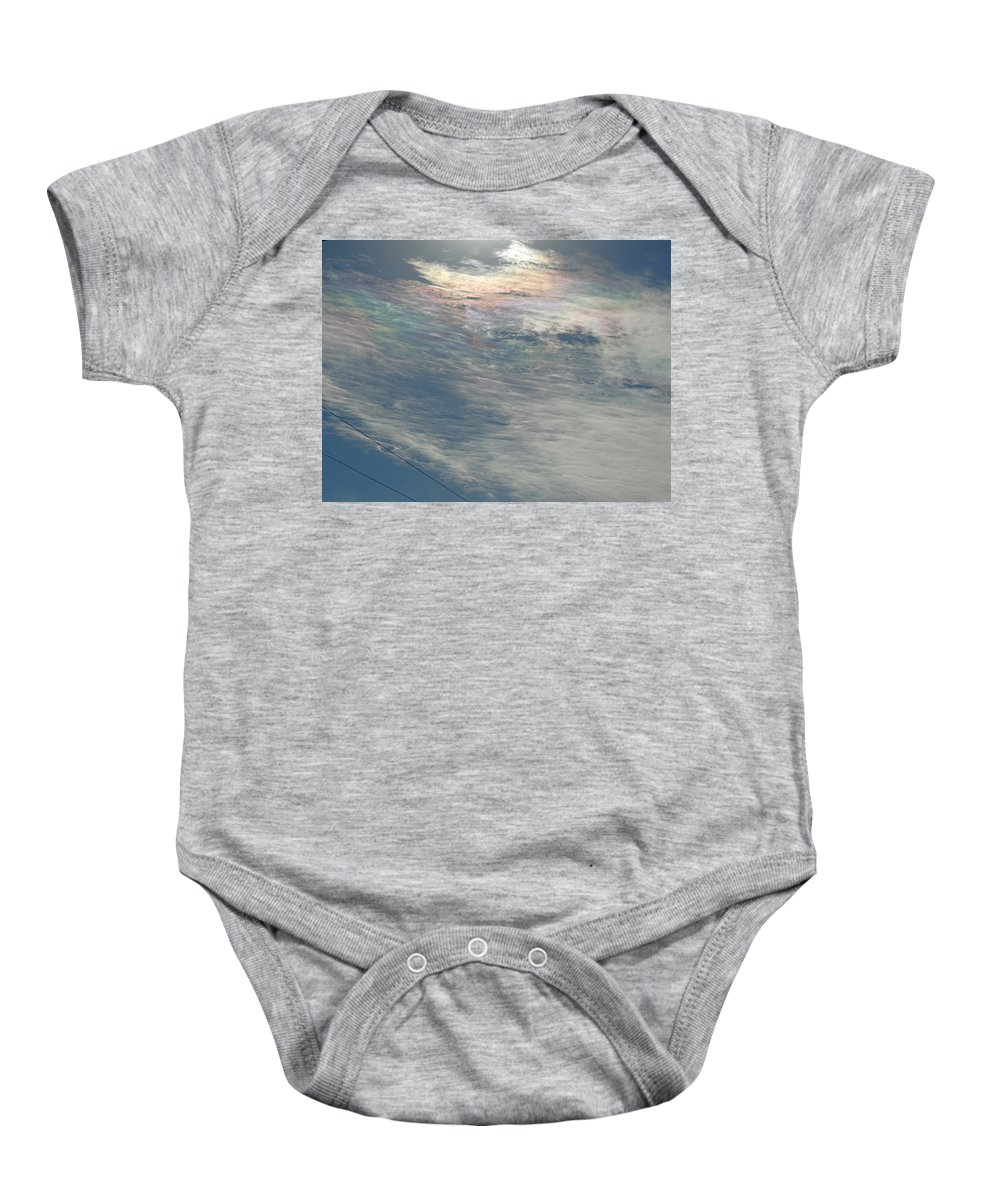 Cloud Baby Onesie featuring the photograph Eyes Of Clouds by Greg Boutz