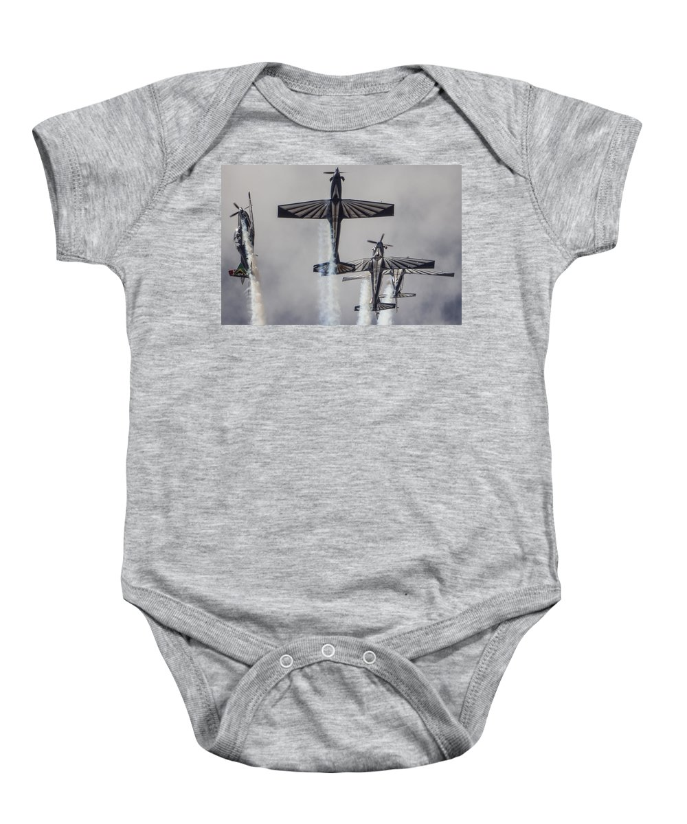 Pilatus Pc7 Baby Onesie featuring the photograph Falcon by Paul Job