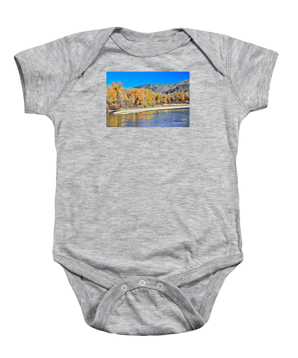 Idaho Baby Onesie featuring the photograph Fall On The Snake River by Robert Bales