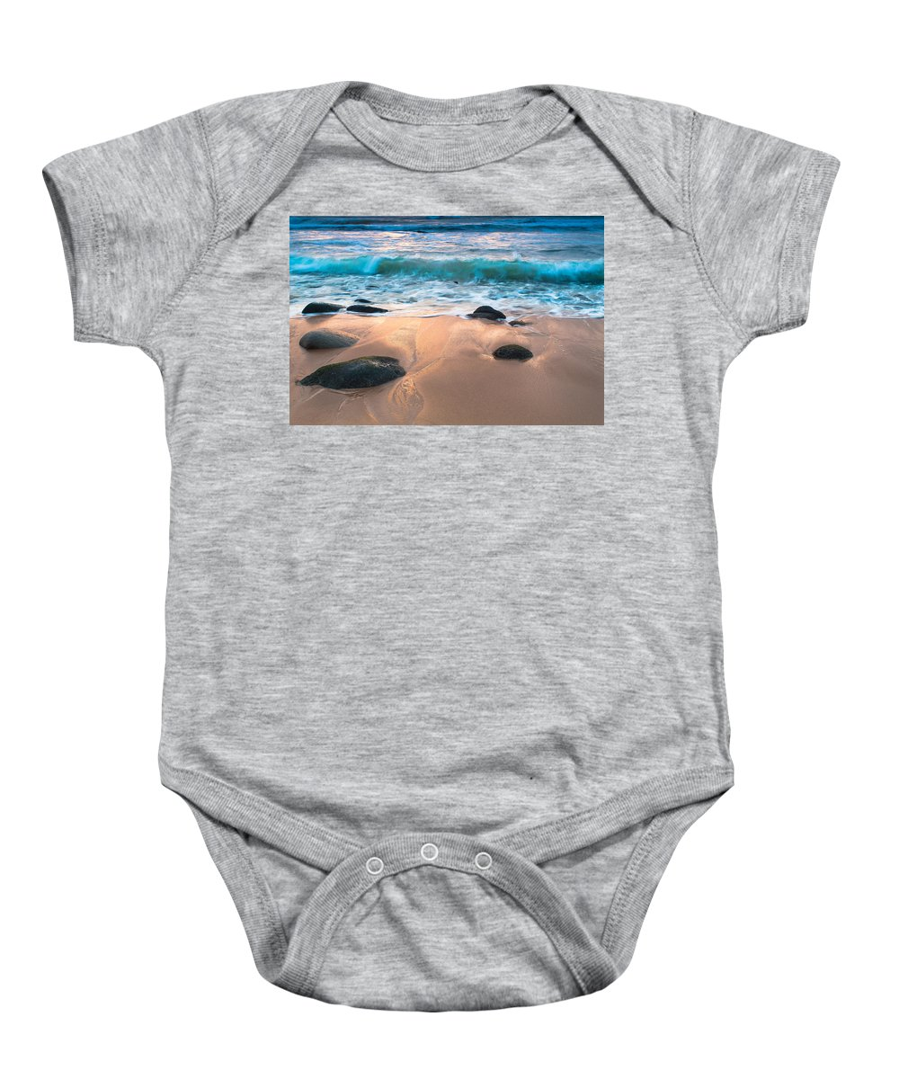 Sea Baby Onesie featuring the photograph Fall Serene by Edgar Laureano