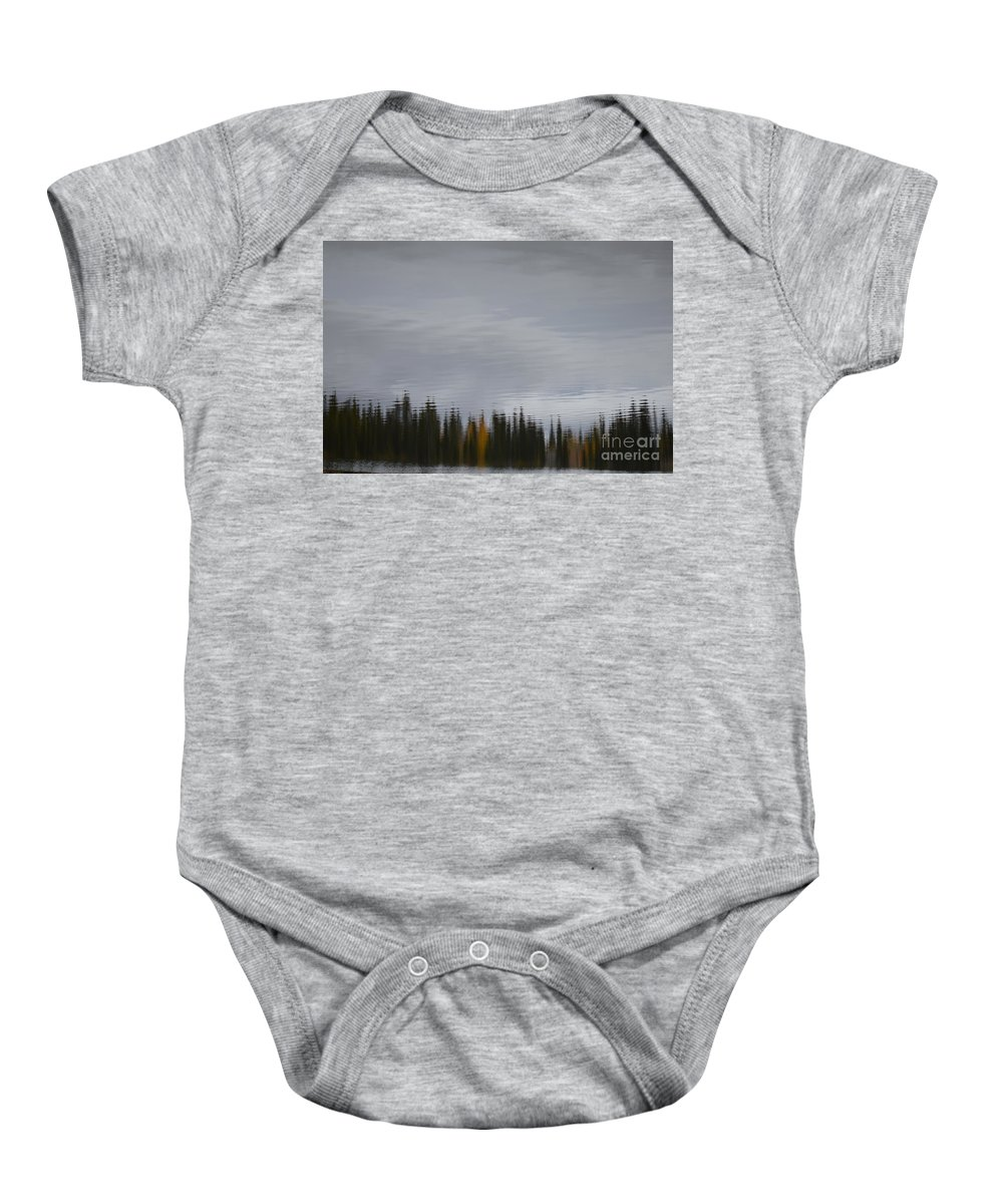 Brian Boyle Baby Onesie featuring the photograph Falling Into A Lake by Brian Boyle